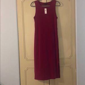 Magenta long maxi dress